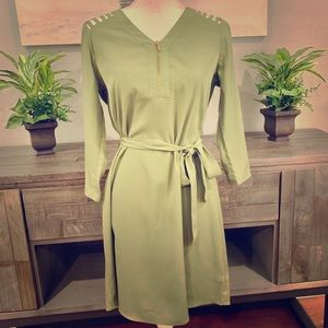 Charming Charlie olive green dress